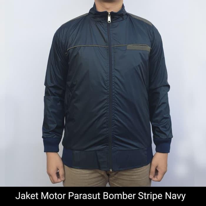 jual Jaket Motor Harian Parasut Casual Bomber model Simpel anti air