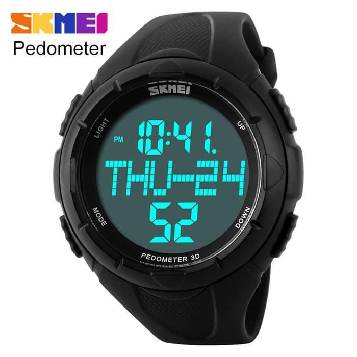 jual SKMEI Pedometer Sport Watch 1122 Original WR 50M - Black