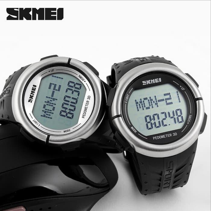jual SKMEI Heartrate & Pedometer 1058 Original Water Resistan 50M - Black