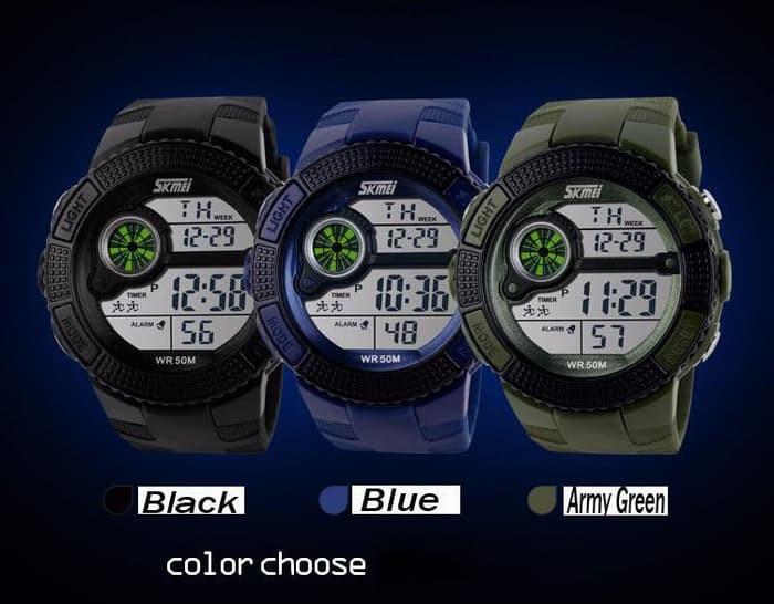 jual SKMEI Sport Watch 1027 Original Water Resistant 50M - Black