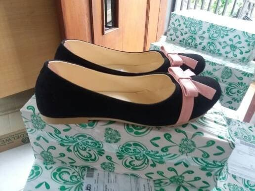 jual Sepatu Wanita Flat Shoes Pita SDB50