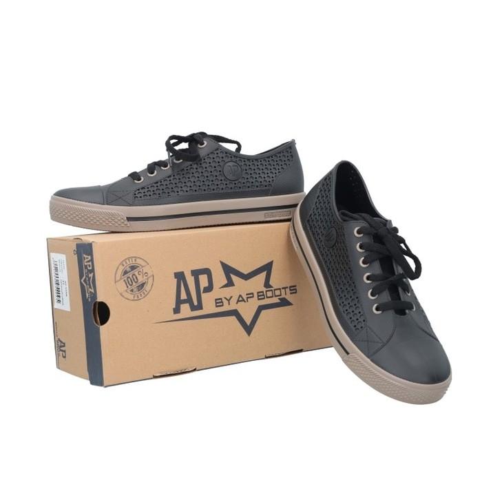 jual Sepatu APstar AP Star Sepatu Pria Wanita PVC bkn Converse Nike Coklat - Cokelat Muda, 40
