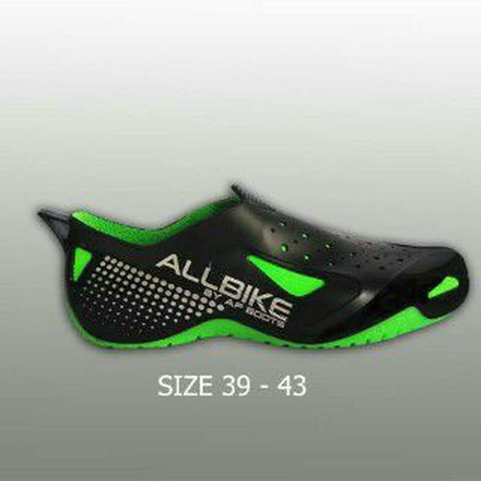 jual Sepatu Motor Biker AIR ALL BIKE GREEN Karet pvc ALLBIKE HIJAU AP BOOTS - Hijau Muda, 38