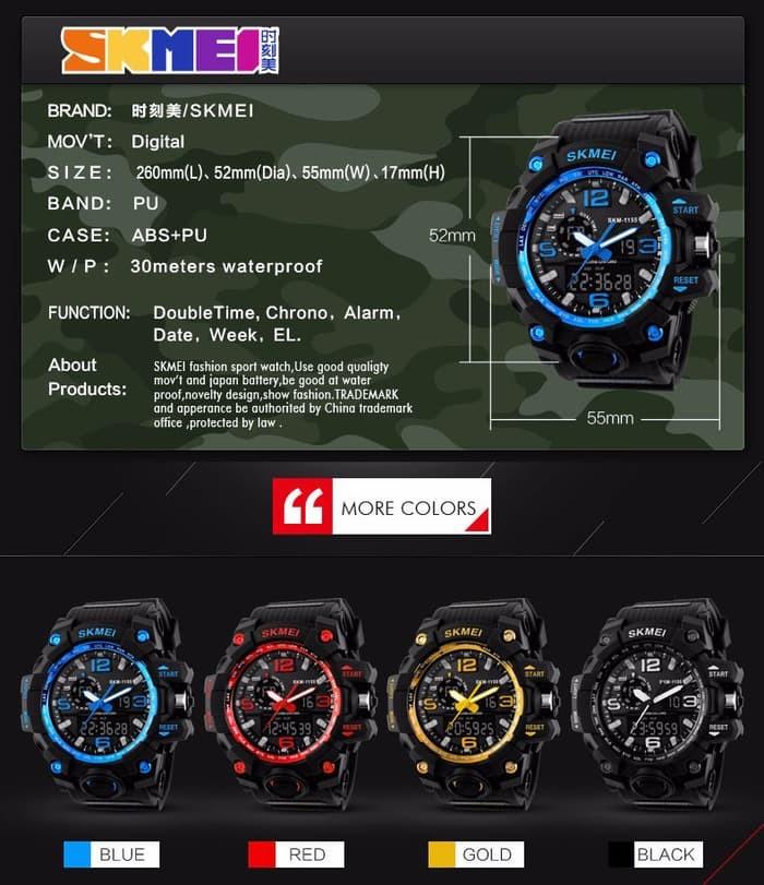 jual Jam Tangan Pria Sport Original SKMEI 1155 Anti Air / G Shock Digitec