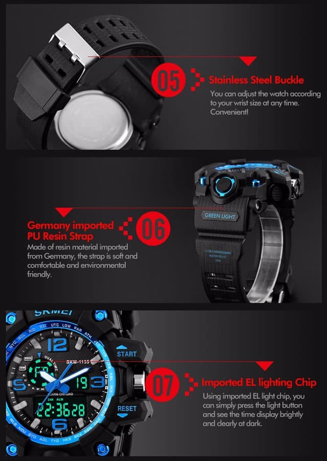 jual SKMEI Sport Watch 1155 Original Water Resistant 50M - Red