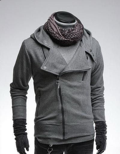 jual Jaket Mutizipper Style Silver/Abu