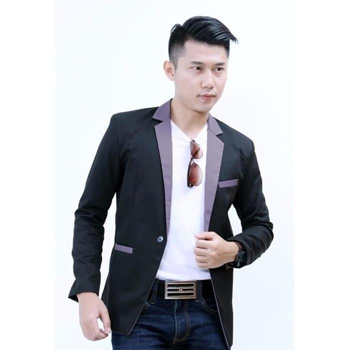 jual Blazer Black Grey Premium, Jas Blaze Formal & Casual Style