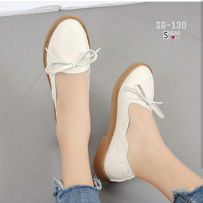 jual Sepatu Wanita Flat Shoes Abelia SDB103 Cream
