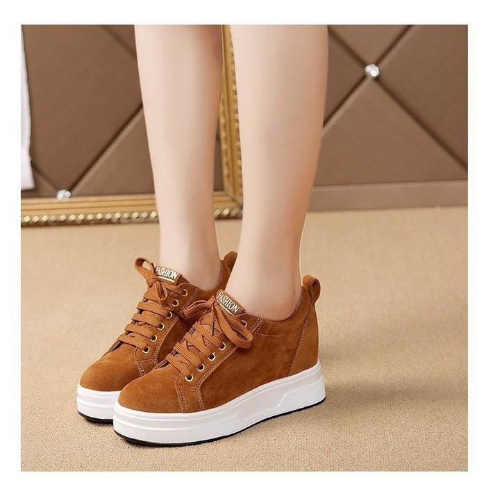 jual Sepatu Wanita Kets Casual SDS256 Tan