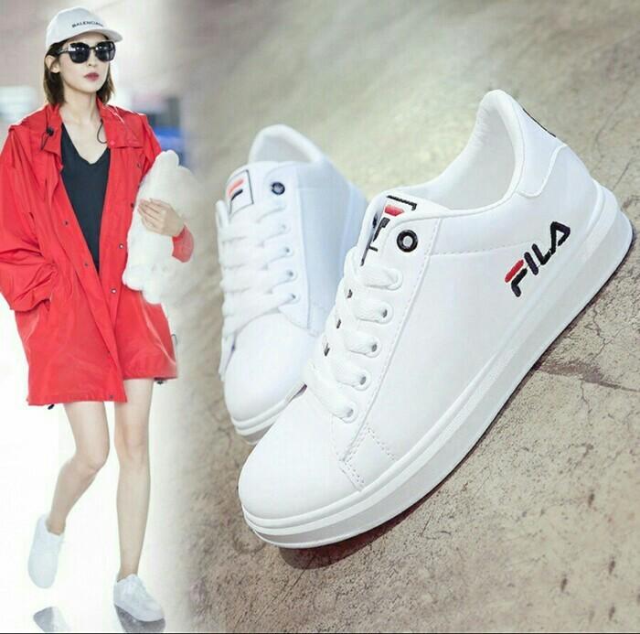 jual Sepatu Wanita Kets Casual SDS244 Putih