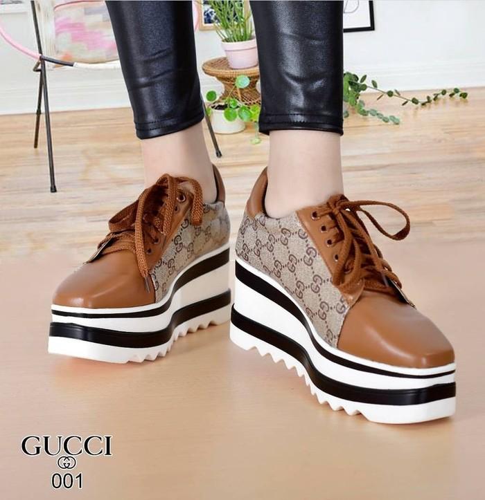 jual Sepatu Wanita Wedges Divya SDS243 Tan