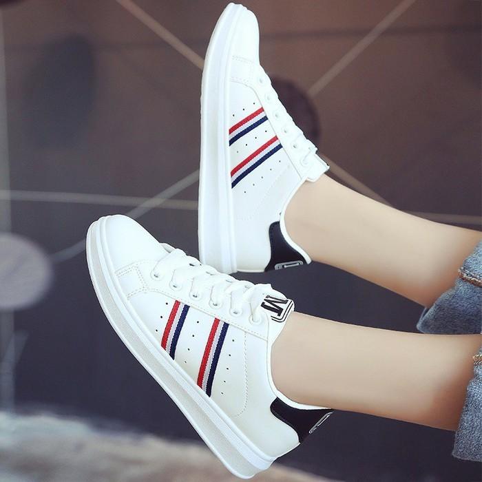 jual Sepatu Wanita Kets Casual SDS245 Putih