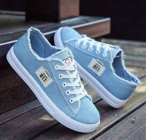 jual Sepatu Wanita Kets Casual SDS187 - Biru, 37