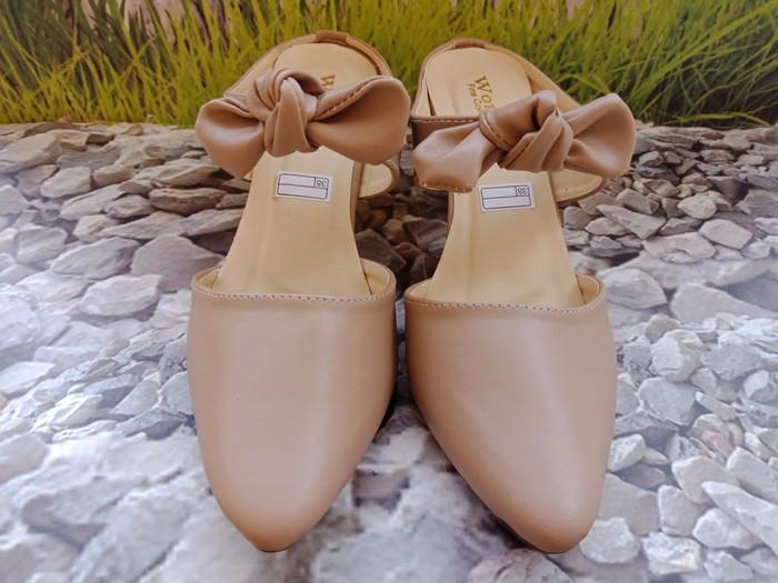 jual Sandal High Heels Wanita Pita SDH173 Mocca
