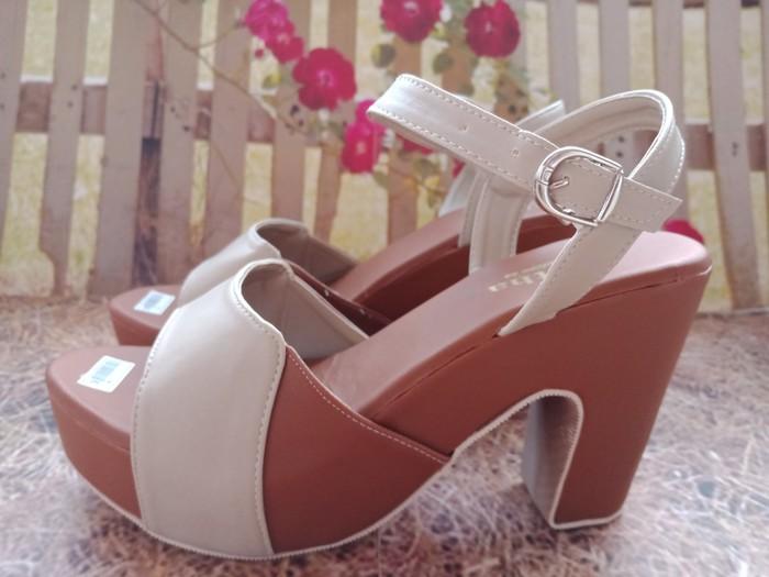 jual Sandal High Heels Wanita Adena SDH174 Mocca