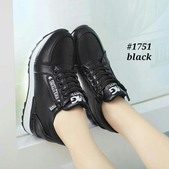 jual Sepatu Wanita Kets Casual Gradia SDS255 Hitam