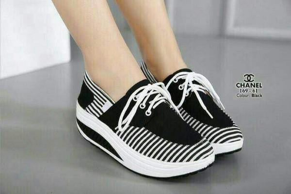 jual Sepatu Wanita Sneakers Belang SDS191 - Hitam, 40