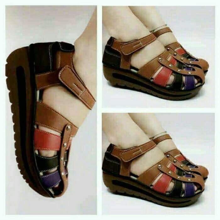 jual Sepatu Sandal Wedges Wanita SDW222