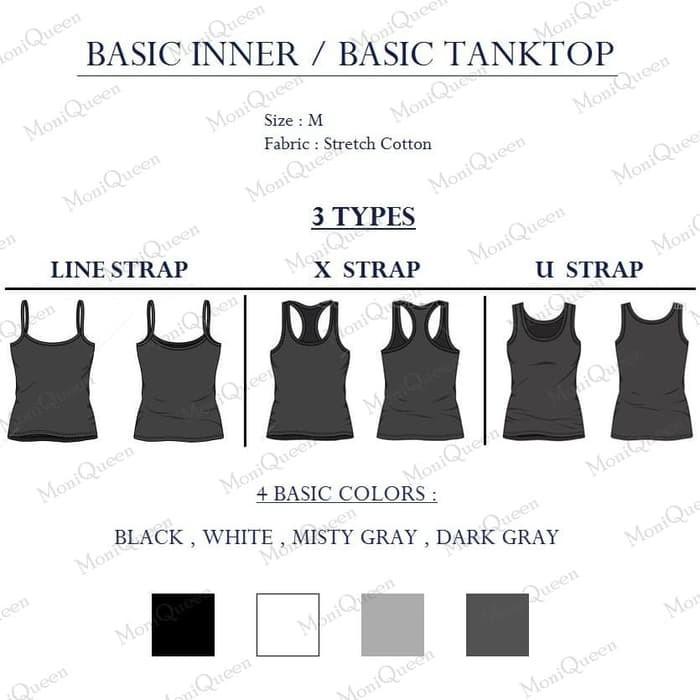jual [X] Tank Top Model Agnes / Tali X - Singlet / Kaos Dalam Wanita