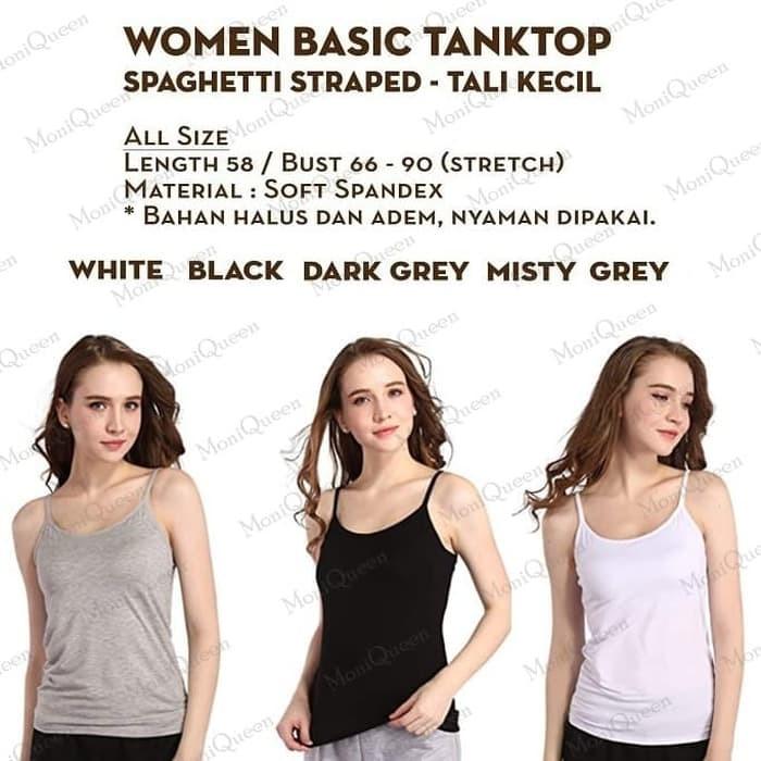jual [LS] Tank Top Tali Kecil / Tali L - Singlet / Kaos Dalam Wanita