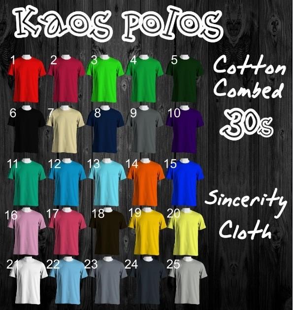 jual Kaos Polos Bahan Asli Cotton Combed 30s Size S M L Bandung