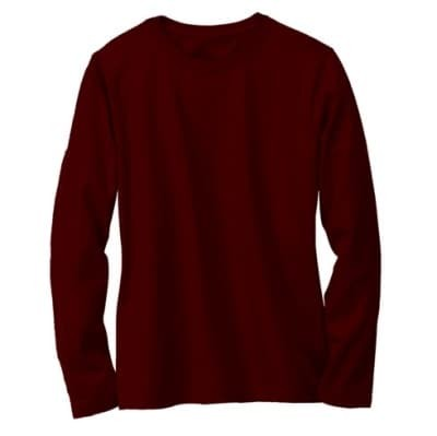 jual Kaos Polos Cotton Combed 30s Long Sleeve size S M L