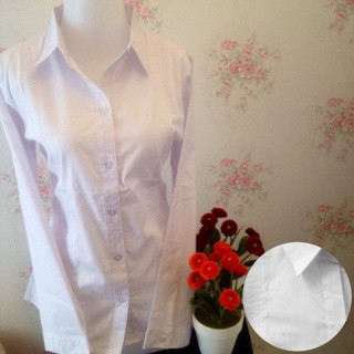 jual kemeja blus putih polos kantor omiset