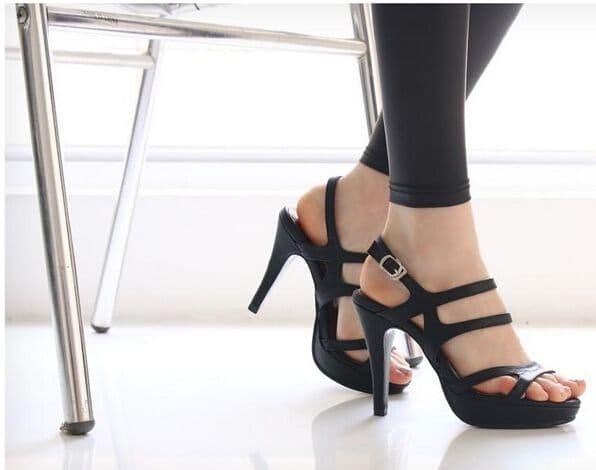 jual Sepatu Wanita High Heels Hitam - S022 - Hitam, 37