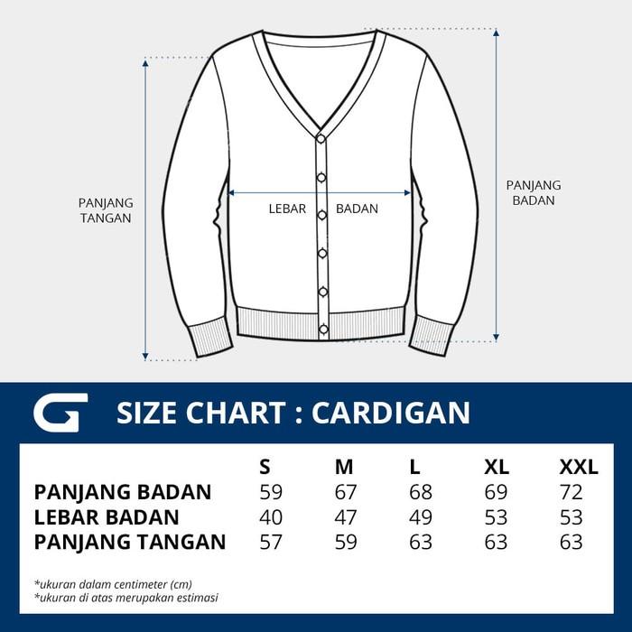 jual Sweater Rajut Pria Gomuda Cardigan Young - Abu-abu Muda, S