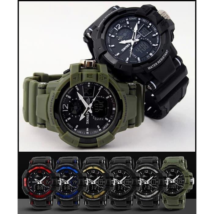 jual SKMEI Military Sport Watch 1040 Original Water Resistant 50M - Black
