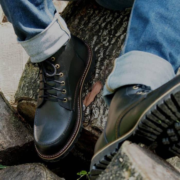 jual Sepatu Boots Pria - Wetan Pajajaran - HARGA PROMO - Hitam, 38