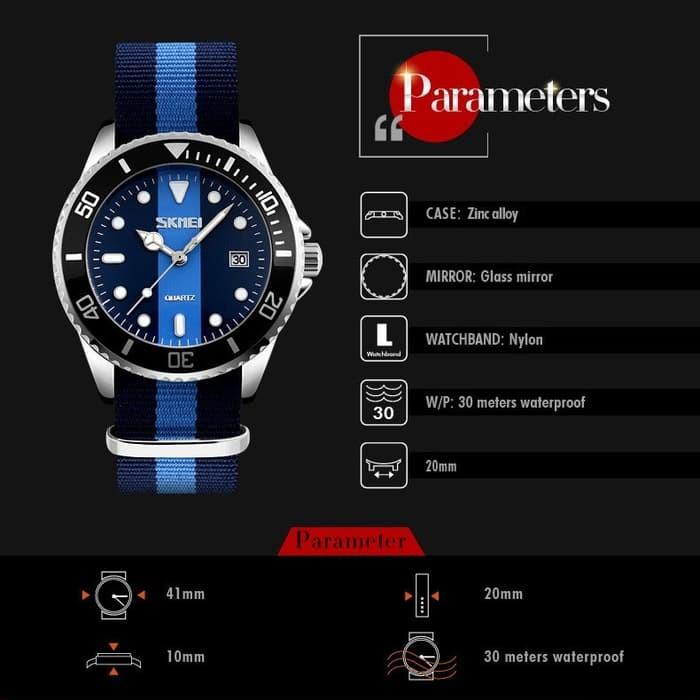 jual Jam Tangan Original SKMEI 9133 / 9133C ( DW Daniel Wellington ) - Blue