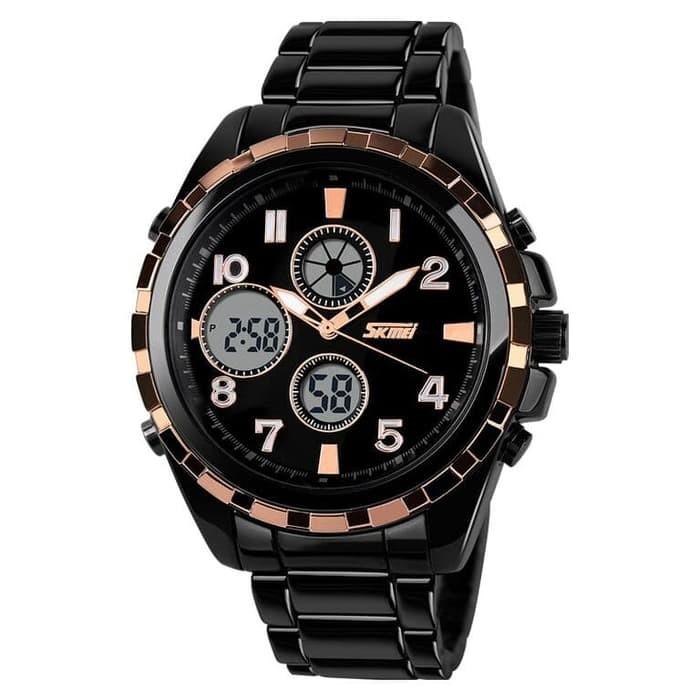 jual SKMEI Fashion Watch 1021 Original Water Resistant 50M - Black Gold