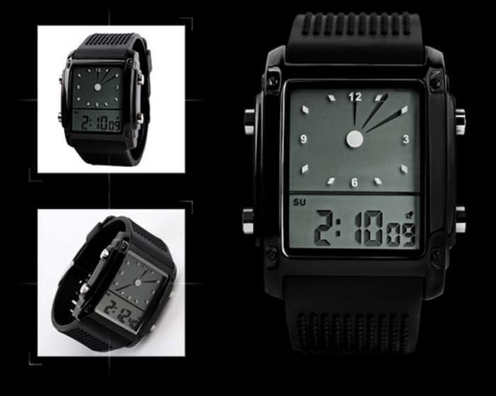 jual SKMEI Unlock 0814 Original Water Resistant 30M - Black