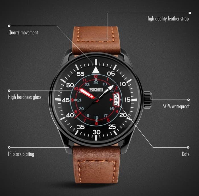 jual SKMEI Watch 9113 Original Water Resistant 50M - Brown
