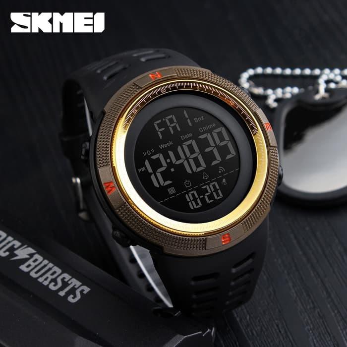 jual Jam Tangan Pria Sport SKMEI 1251 Original Water Resist - Brown Gold