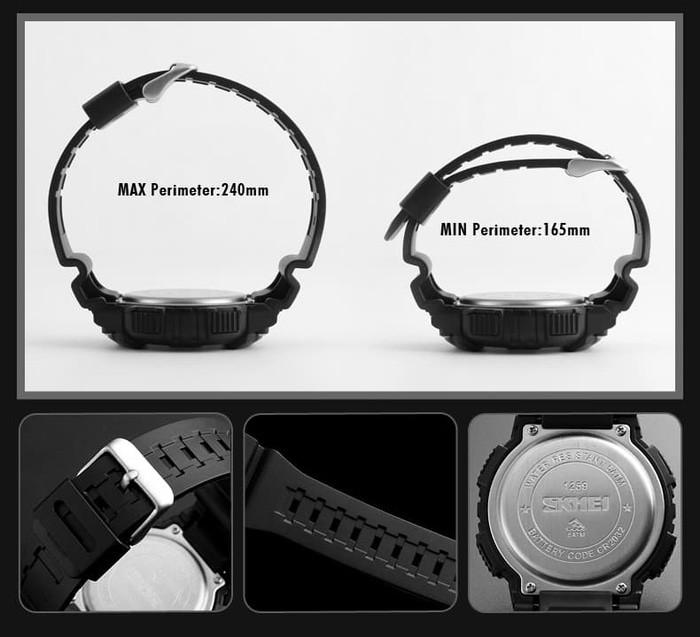 jual SKMEI Compass 1259 Original - Jam Tangan Pria Sport Outdoor Anti Air