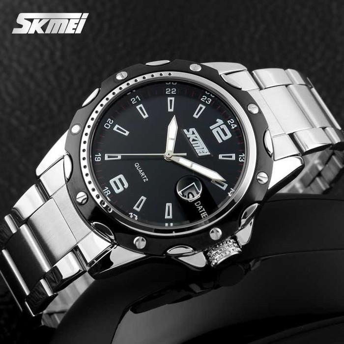 jual Jam Tangan Pria Original SKMEI 0992 Rantai Seiko Anti Air 30M - Black