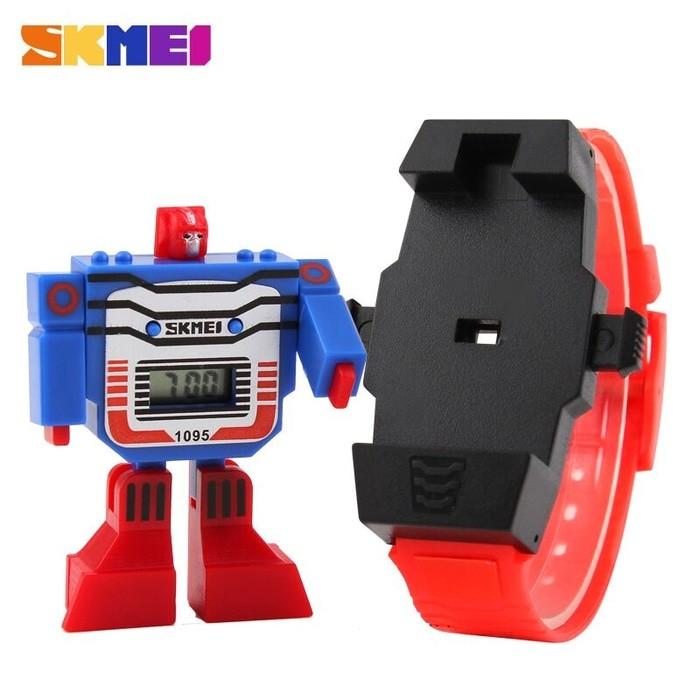 jual Jam Tangan Anak Cowok SKMEI 1095 Original / Robot / Transformers