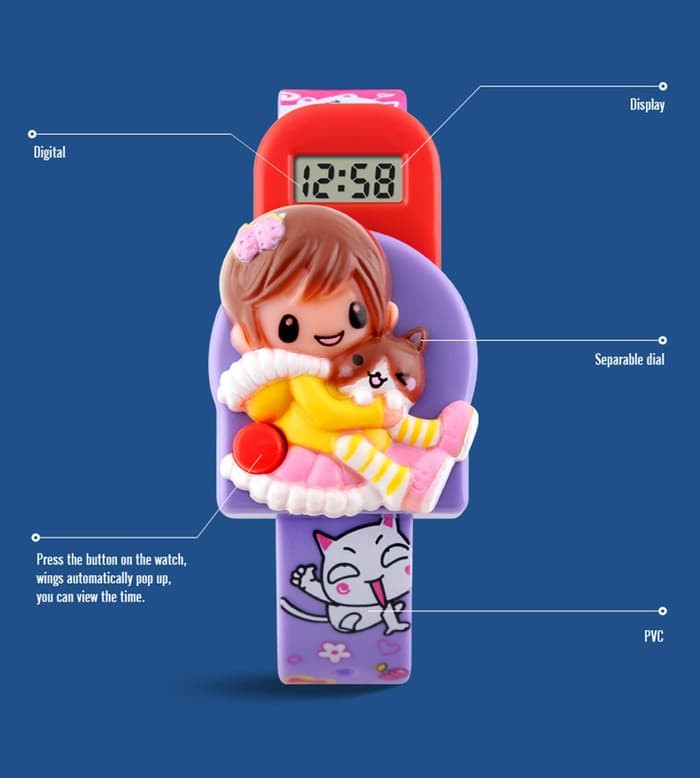 jual Jam Tangan Anak Anak Cewek Frozen SKMEI 1240 Original Murah - Pink