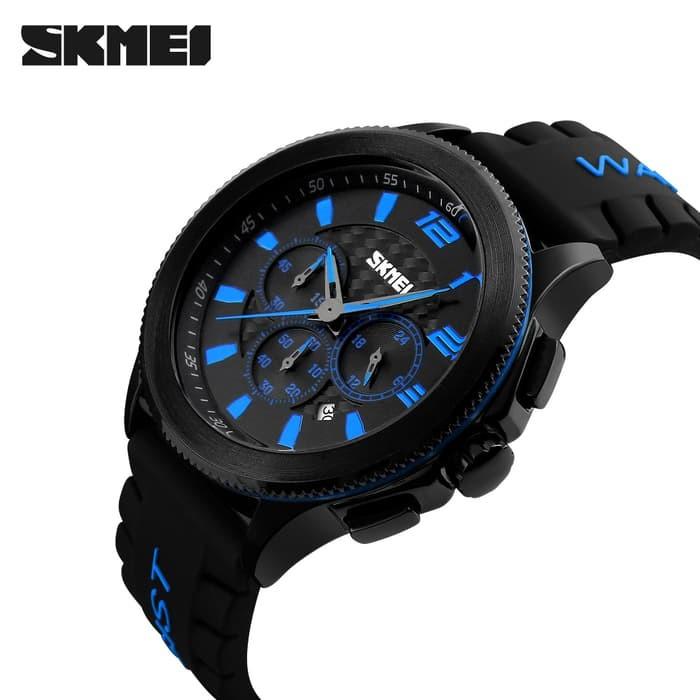 jual Jam Tangan Pria Casual Original SKMEI 9136 Anti Air 30M - Blue