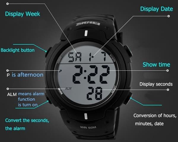 jual SKMEI Pioneer Sport Watch 1068 Original Water Resistant 50M - Silver
