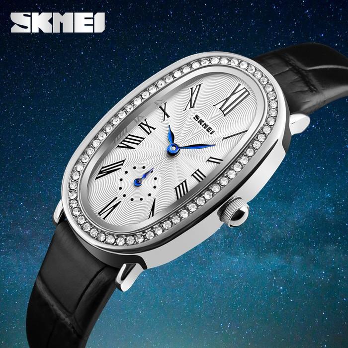 jual Jam Tangan Wanita Original SKMEI CL1292 Anti Air 30M - Hitam Silver