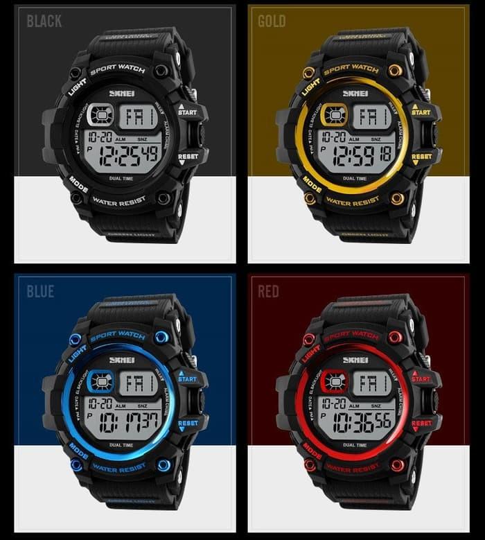 jual SKMEI Sport Watch 1229 Original Water Resistant 50M - Black