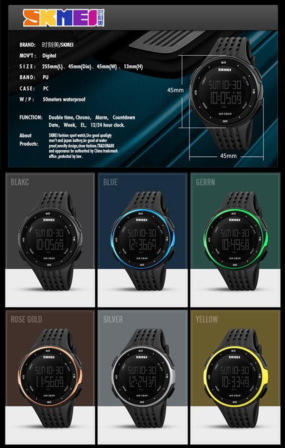 jual Jam Tangan Pria Sport SKMEI 1219 Original Water Resistant 50M - Green