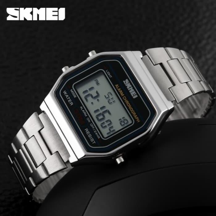 jual SKMEI Watch 1123 Original Water Resistant 30M - Silver