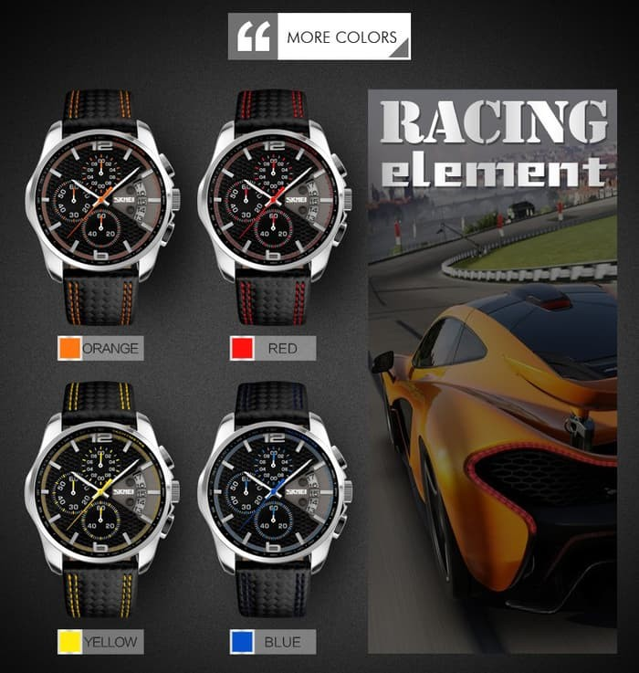 jual SKMEI Watch 9106 Original Water Resistant 50M - Black Orange