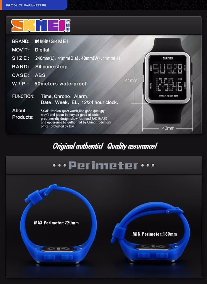 jual Jam Tangan Pria SKMEI 1139 Original Water Resistant 50M - Black