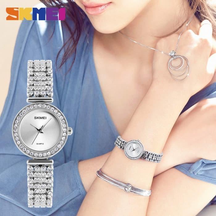 jual Jam Tangan Wanita Original SKMEI 1224 Anti Air 30M - Silver