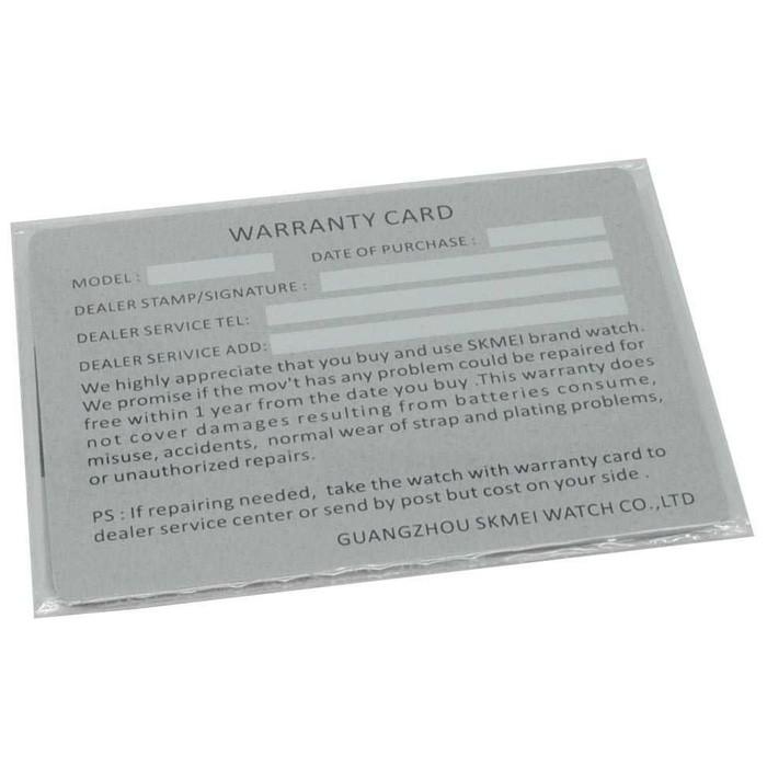 jual Kartu Garansi / Warranty Card  Jam Tangan SKMEI